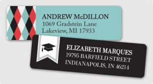 Graduation Address Labels from 123Print