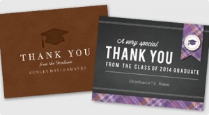 Graduation Thank You Cards from 123Print