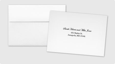 Printed Rsvp Envelopes From 123print