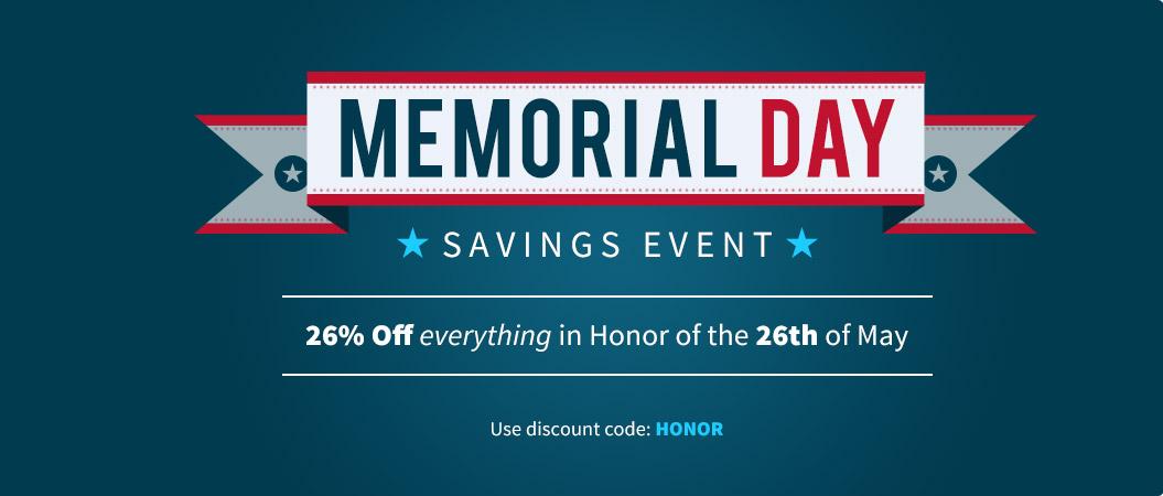 123Print Memorial Day 2014 Savings Event