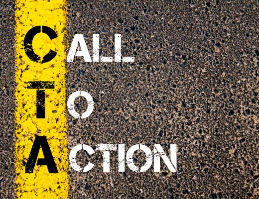 Yellow paint line on the road against asphalt background. with the words 'Call to Action.'